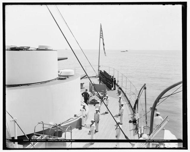U.S.S. Kentucky, inspection on quarter deck