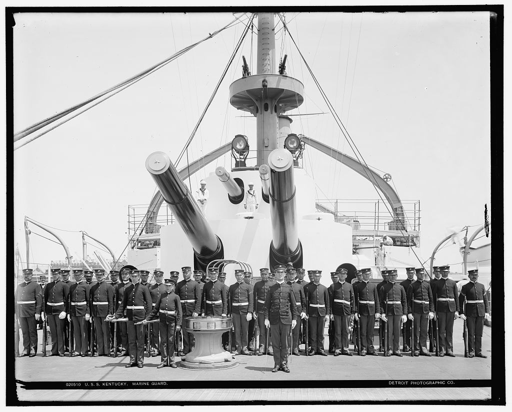 U.S.S. Kentucky, Marine guard