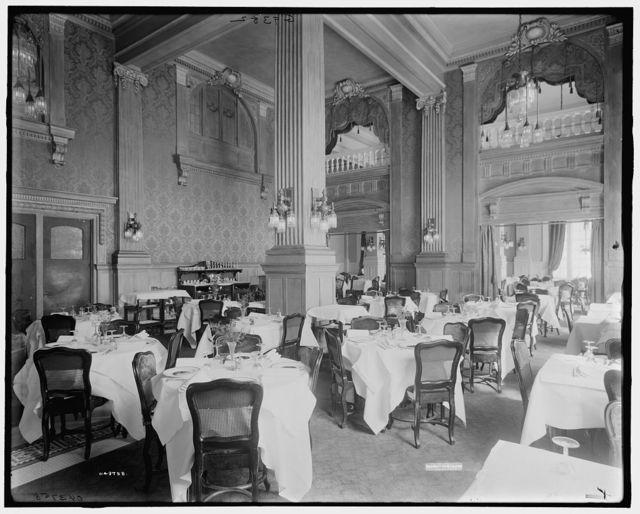 [Utica, N.Y., Hotel Utica, Green Room, morning restaurant]