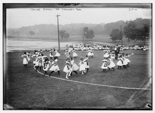 Van Cortlandt Park, dancers doing Italian Dance, New York