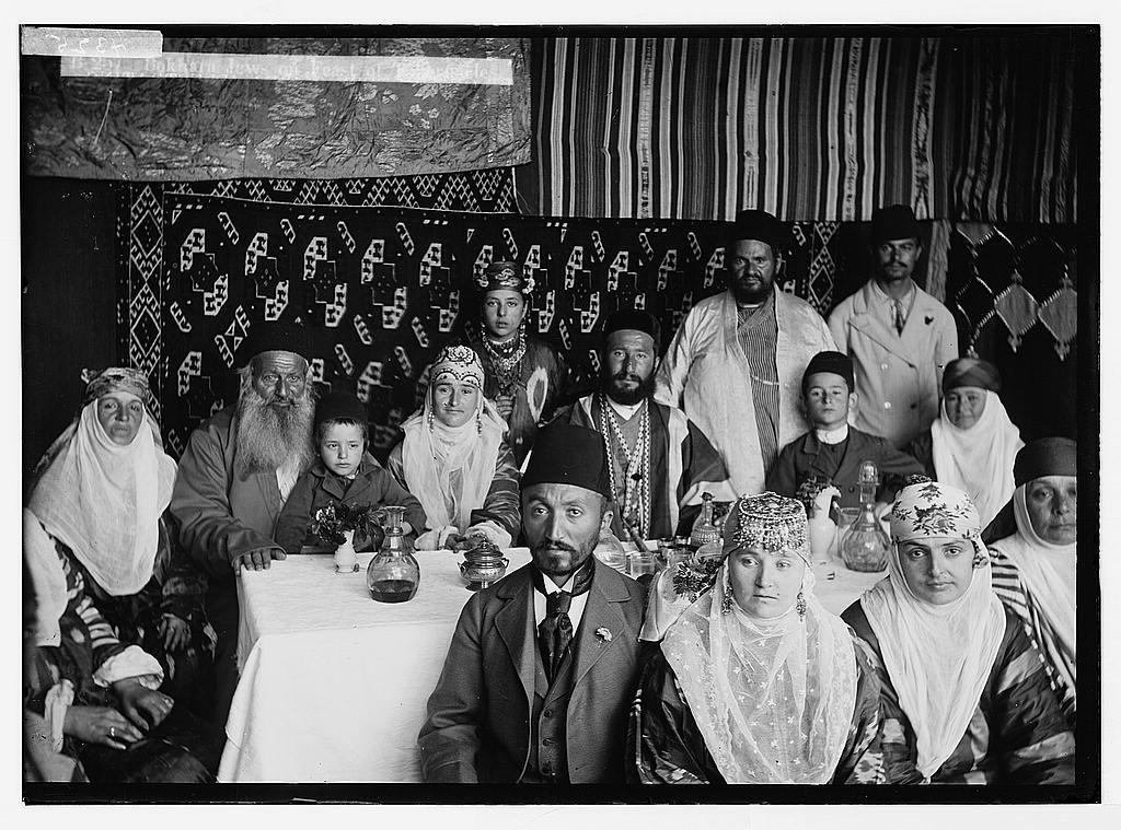 Various types, etc  Bokhara [i e , Bukharan] Jews on Feast of