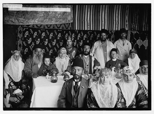 Various types, etc. Bokhara [i.e., Bukharan] Jews on Feast of Tabernacles [Sukkot].