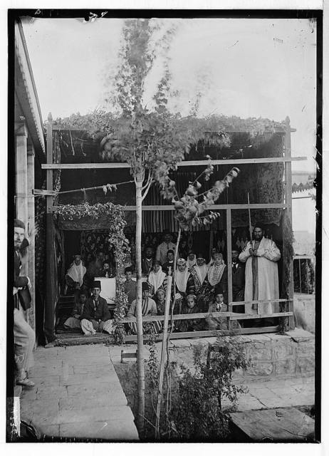 Various types, etc. Feast of Tabernacles [Bukharan Jews during Sukkot].
