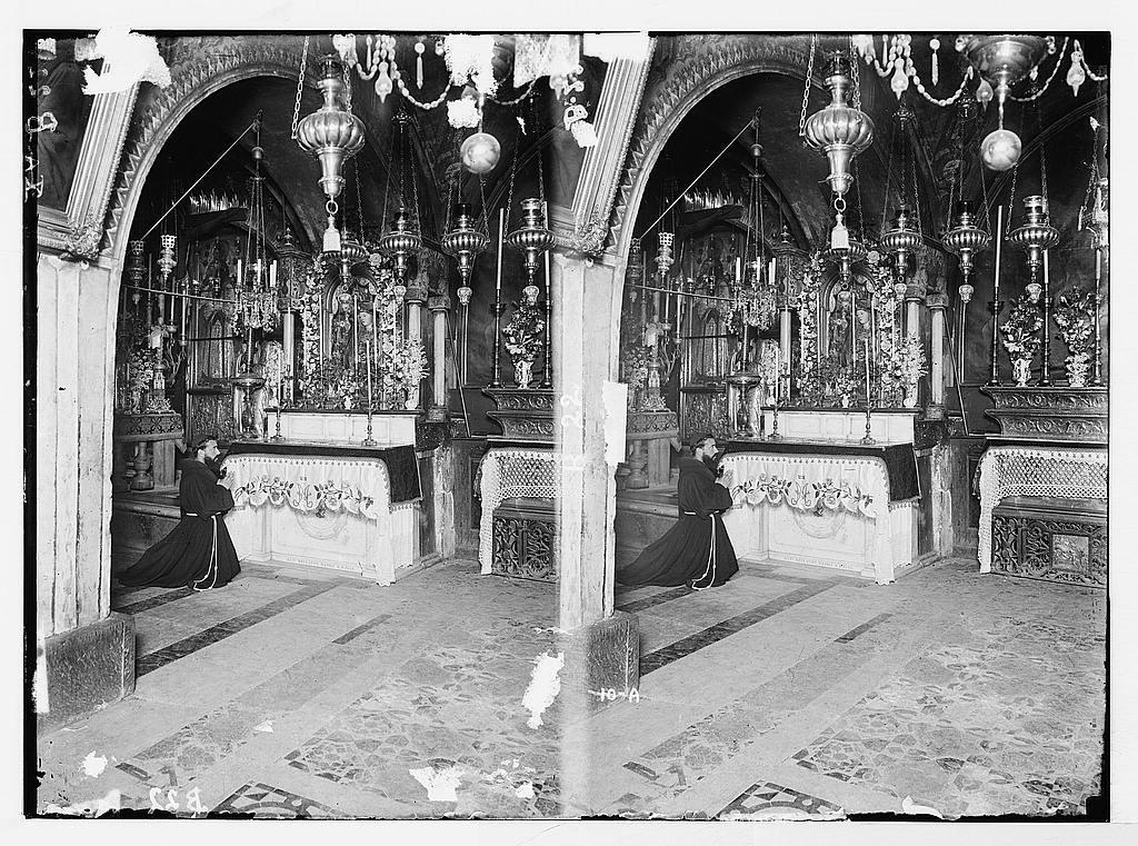 Via Dolorosa, beginning at St. Stephen's Gate. [Thirteenth] Station of the Cross.