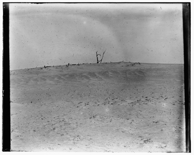 [View of Kitty Hawk, North Carolina, photographed by the Wright brothers in the vicinity of their 1900 camp, where they conducted their first gliding experiments in October]