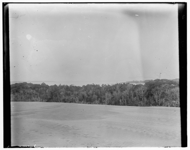 [View of Kitty Hawk, North Carolina, which includes the bay, photographed by the Wright brothers in the vicinity of their 1900 camp, where they conducted their first gliding experiments in October]