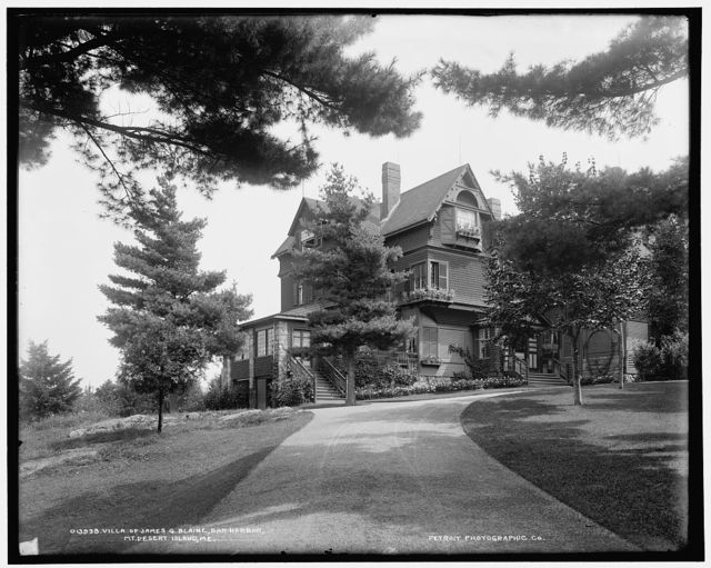 Villa of James G. Blaine, Bar Harbor, Mt. [i.e. Mount] Desert Island, Me.