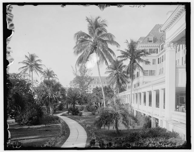 [W. Palm Beach, Fla., north from the colonnade, Royal Poinciana]