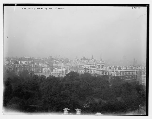 War Office, Admiralty, etc. London