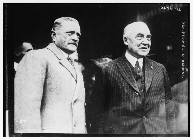 Warren G. Harding & Gen. Pershing