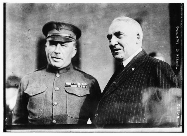 Warren G. Harding & Gen. Wood