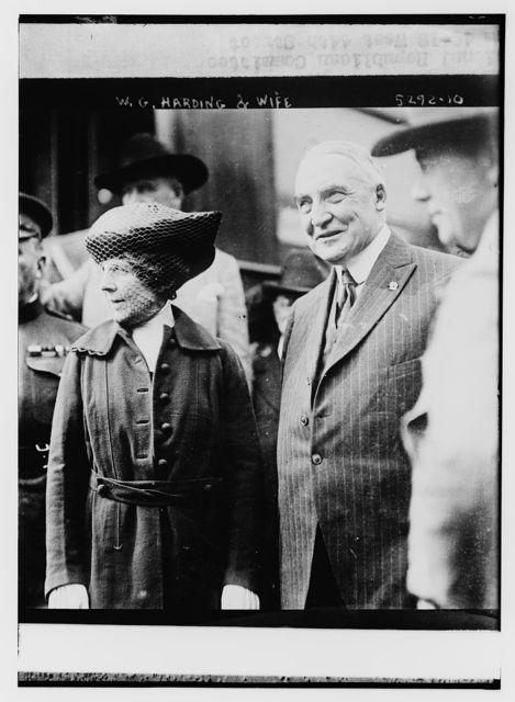 Warren G. Harding & wife