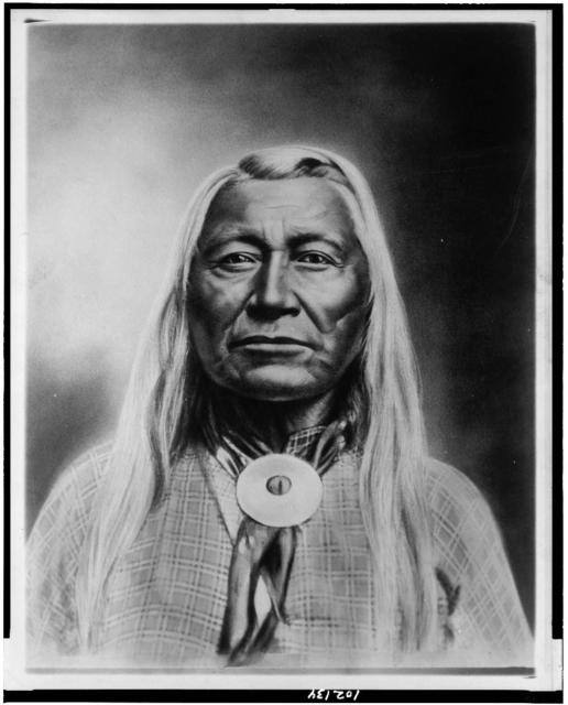 [Washakie, Chief of Shoshones, head-and-shoulders portrait, facing front]
