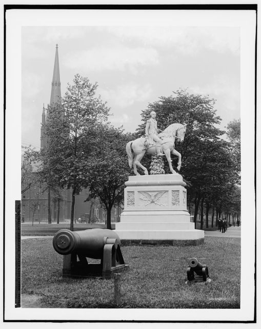Washington statue, Northside [i.e. North Side], Pittsburg, Pa.