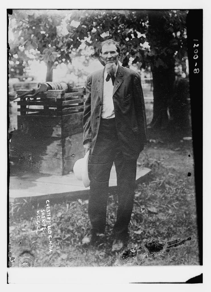 W.C. Gill, Chesterfield Ch., Va. Sheriff