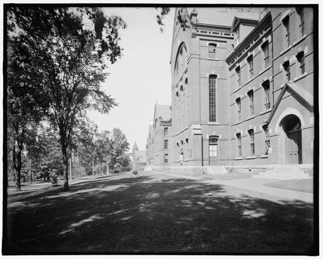 [West facade, University of Vermont, Burlington, Vt.]