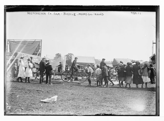 Westchester Co. Fair, bicycle merry-go-round [New York]