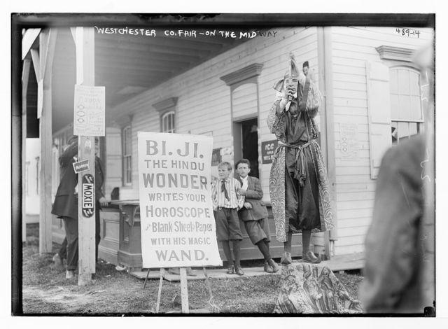 Westchester Co. Fair, on the Midway [Bi. Ji., the Hindu Wonder], New York