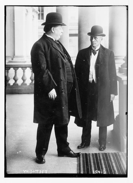 W.H. Taft, with unidentified gentleman