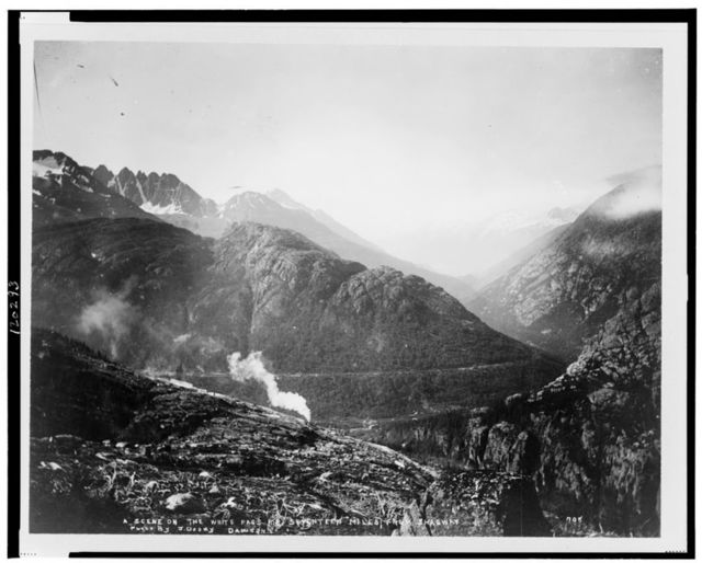 White Pass Railroad train seventeen miles from Skagway