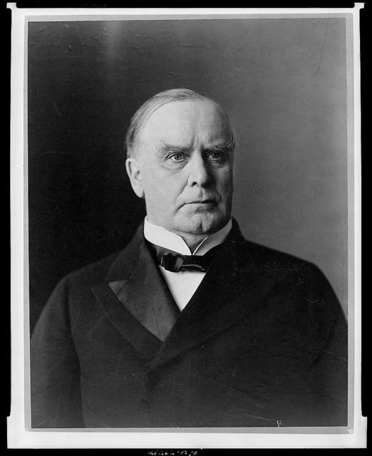 [William McKinley, head-and-shoulders portrait, facing right]