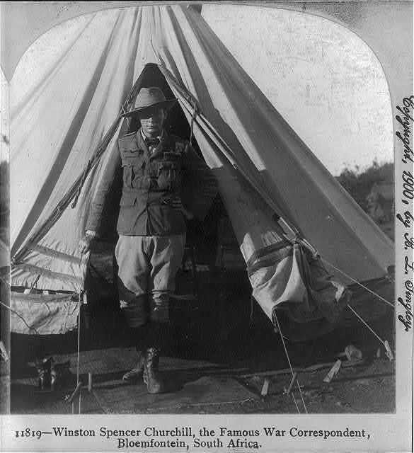 Winston Spencer Churchill, the famous war correspondent, Bloemfontein, South Africa