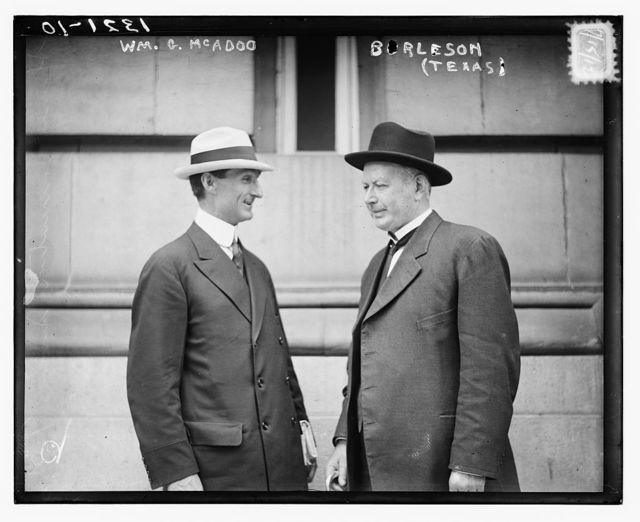 Wm. G. McAdoo & Burleson (Tex.)