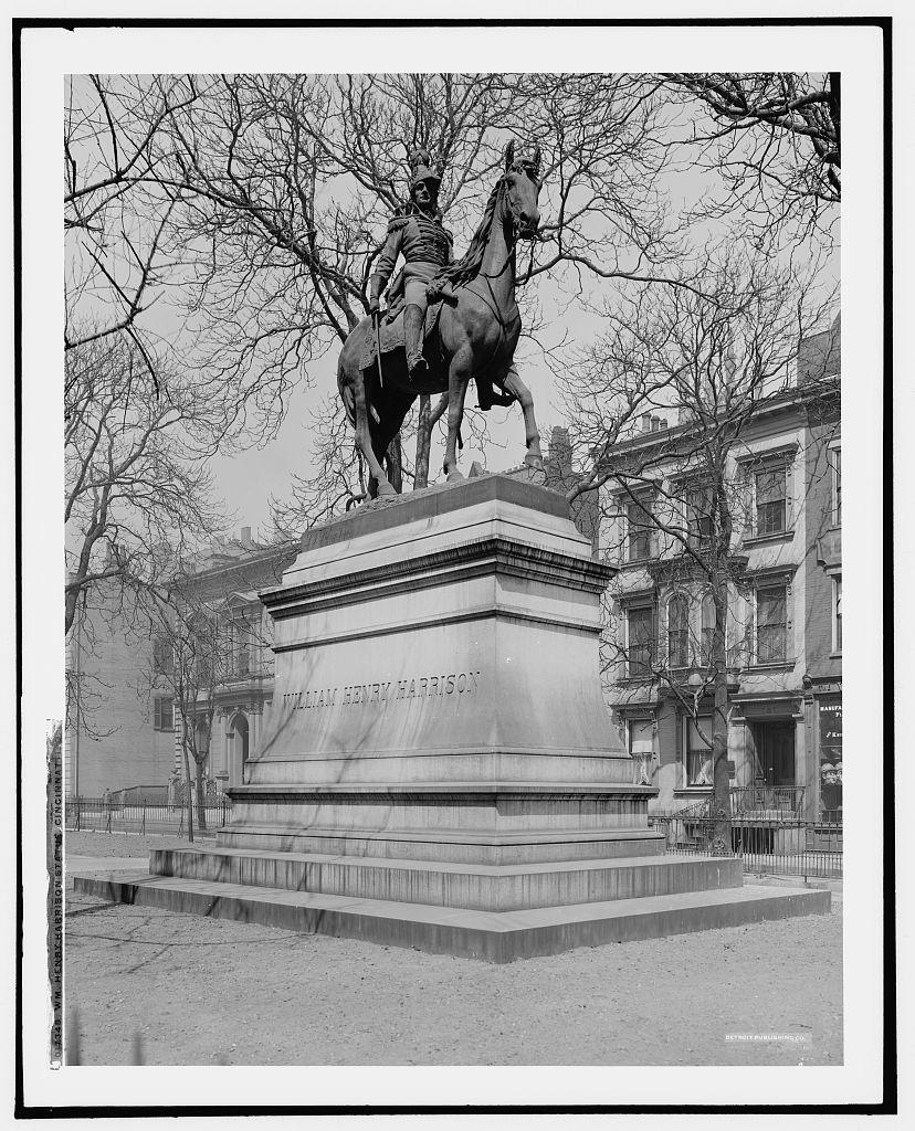 Wm. Henry Harrison statue, Cincinnati, O[hio]