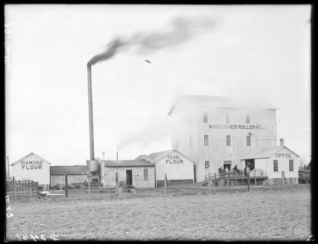 Wood River Roller Mills owned by J.J. Carter near Wood River, Nebraska.