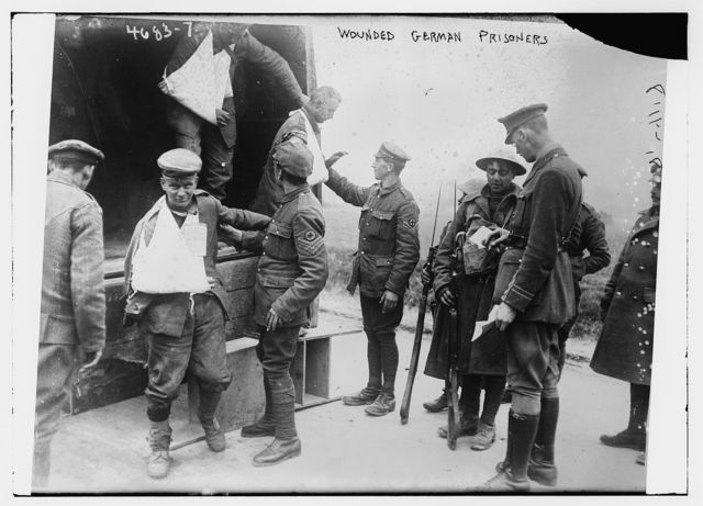 Wounded German prisoners