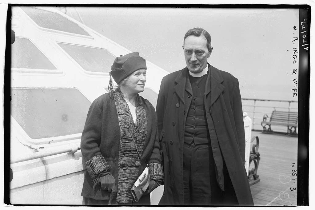 W.R. Inge with wife