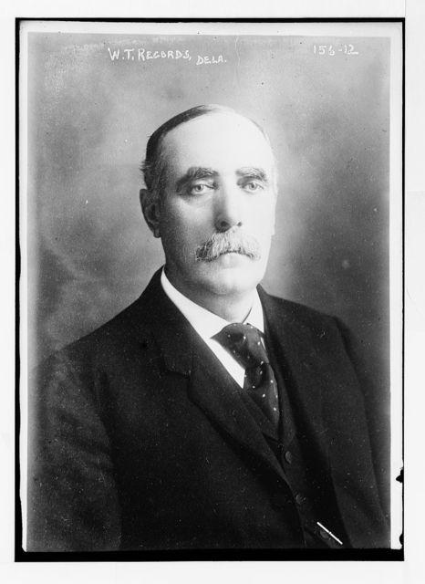 W.T. Records, Delaware, portrait bust