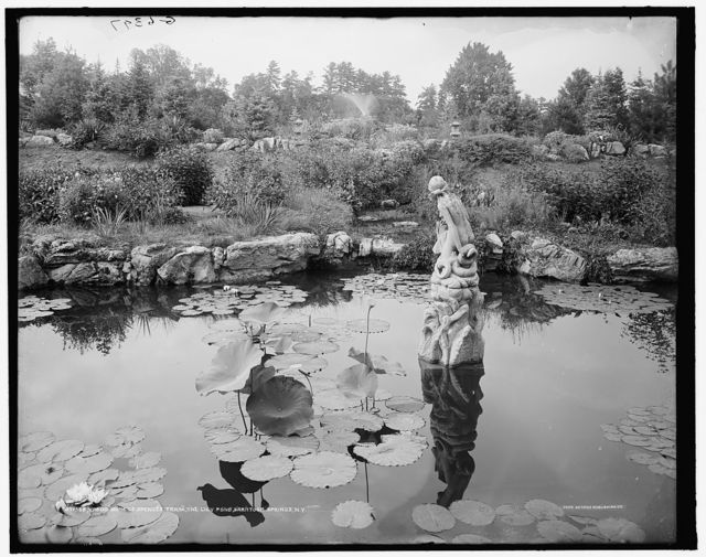 Yaddo, home of Spencer Trask, the lily pond, Saratoga Springs, N.Y.