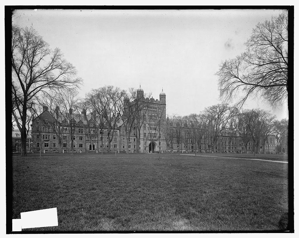 [Yale University buildings, east front, New Haven, Conn.]