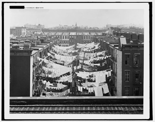 Yard of tenement at Park Ave. and 107th St., New York
