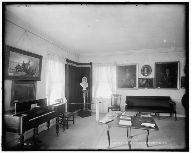 [A Room, Washington's headquarters [i.e. Ford Mansion], Morristown, N.J.]