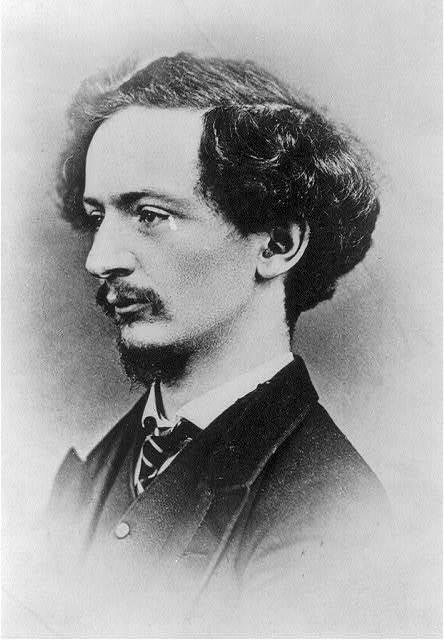 [Algernon Charles Swinburne, 1827-1909, bust portrait, facing left]