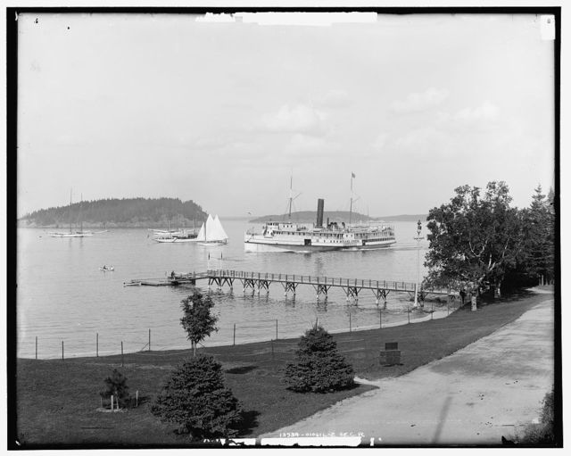 Bar Harbor, Mt. [Mount] Desert Island, Me., the harbor from Newport House