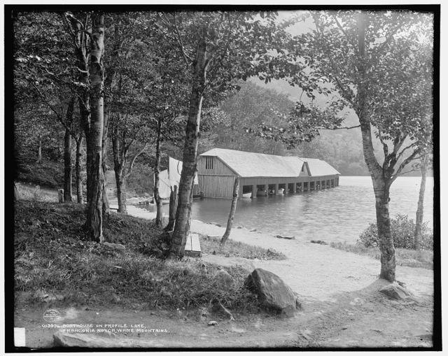 Boathouse on Profile Lake, Franconia Notch, White Mountains