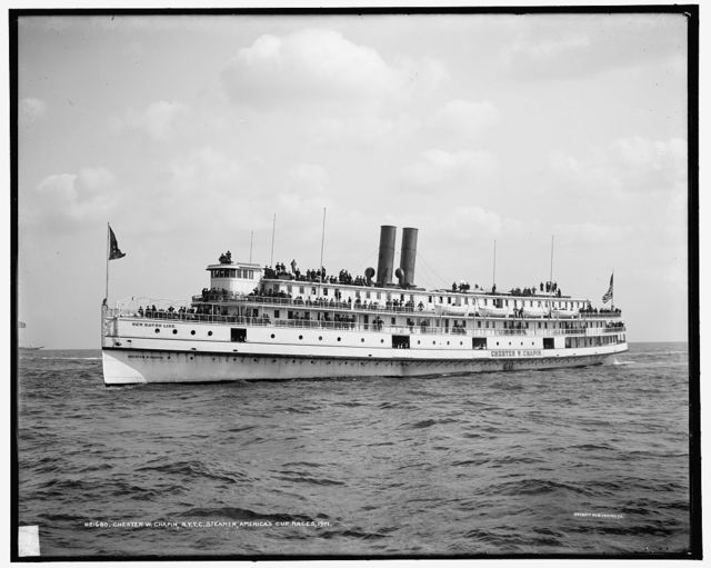 Chester W. Chapin, N.Y.Y.C. [New York Yacht Club] steamer, America's Cup races