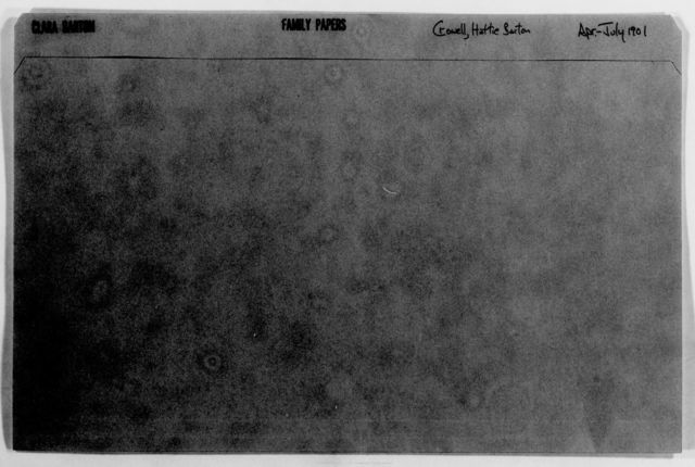 Clara Barton Papers: Family Papers: Crowell, Hattie Barton, 1901