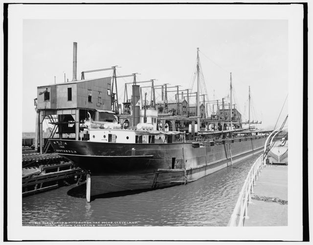 Cleveland & Pittsburgh ore docks, Cleveland, Brown conveying hoists