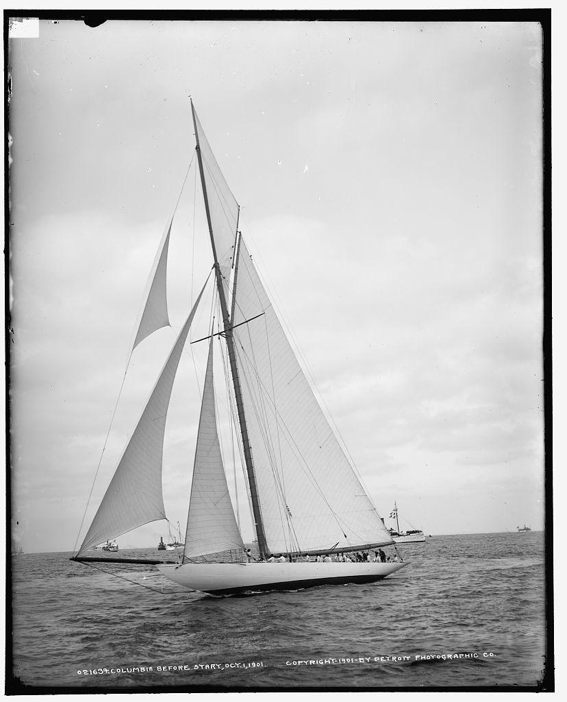 Columbia before start, Oct. 1, 1901