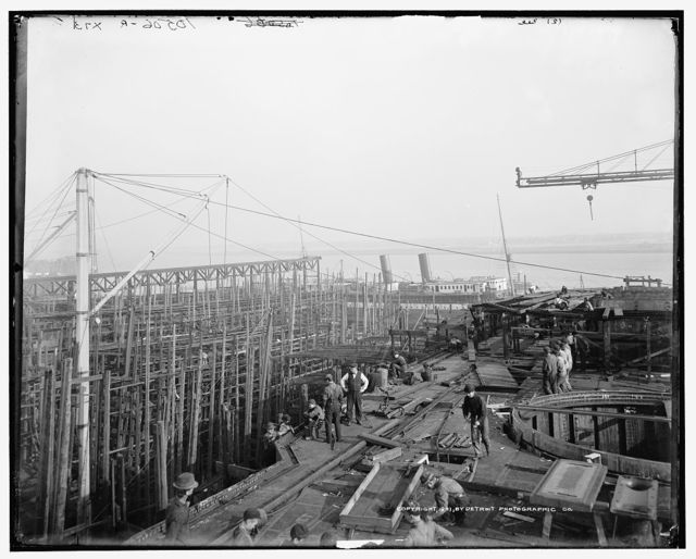 Cramp's ship yard, Philadelphia, from deck of Russian war ship Retvizan
