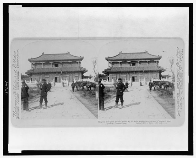 Empress Dowager's favorite palace by the lake, Imperial city - count Waldersee's headquarters, Peking, China