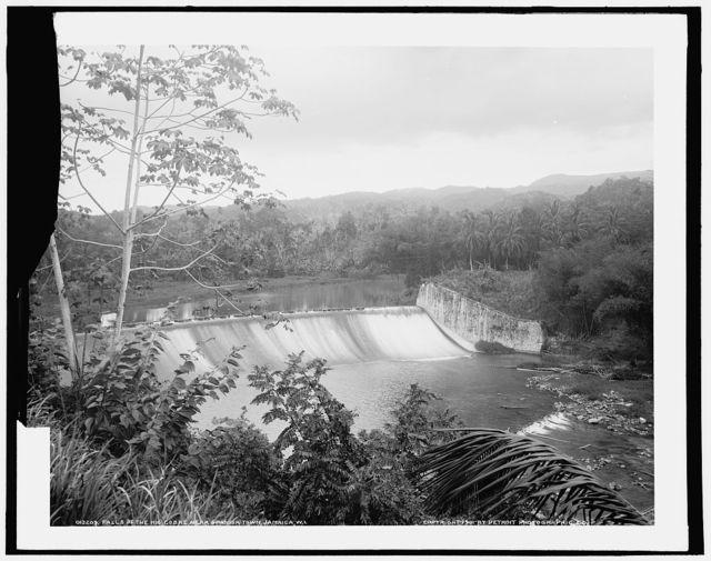 Falls of the Rio Cobre near Spanish Town, Jamaica, W.I.