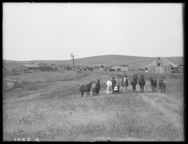 Family on a ranch on Gordon Creek, Cherry County, Nebraska