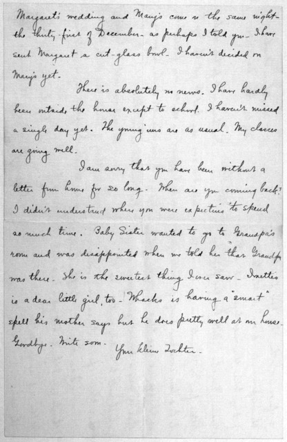 Family Papers:  Correspondence--Wright, Katharine, 1901