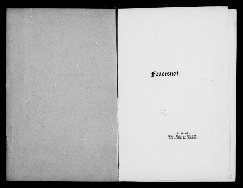 Feuersnot. Libretto. German