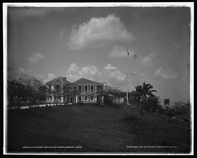 Governor's residence, Nassau, Bahama Isl'ds